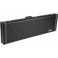 G&G Deluxe Hardshell Cases - Precision Bass® - Black with Orange Plush Interior