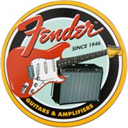 Vintage Guitar and Amp Coaster Set -