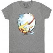 Fender® Stratocaster Toddler T-Shirt - Gray