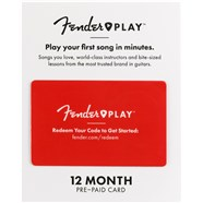 Fender Play™ Prepaid Cards -
