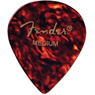 551 Shape Classic Celluloid Picks - 12 Count - Tortoise Shell