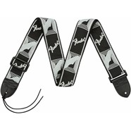 "Fender® 2"" Monogrammed Straps - Black/Light Grey/Dark Grey"