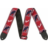 "Fender® 2"" Monogrammed Straps - Red, White and Blue"