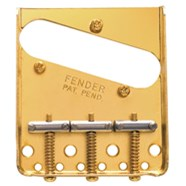 3-Saddle American Vintage Telecaster® Bridge Assembly (Gold) -