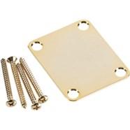 4-Bolt Vintage-Style Neck Plate (No Logo) - Gold