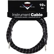 Fender® Custom Shop Cables (Straight-Straight Angle) - Black Tweed