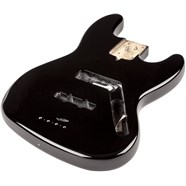 USA Jazz Bass® Body (Modern Bridge) - Black -