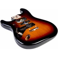 USA Stratocaster® Left-Hand Body (Modern Bridge) - 3-Color Sunburst -