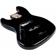 USA Jazz Bass® Left-Hand Body (Modern Bridge) - Black -