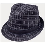 Fender® Axe Plaid Fedora - Black Plaid