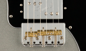 "TOP-LOAD/STRING-THROUGH SADDLE ""CUT"" TELE BRIDGE"
