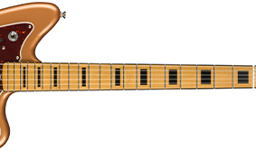 BOUND FINGERBOARD WITH BLOCK INLAYS