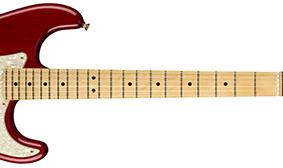 "MAPLE NECK WITH 9.5"" RADIUS FINGERBOARD"