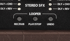 90-second looper with onboard control; optional 4-button footswitch
