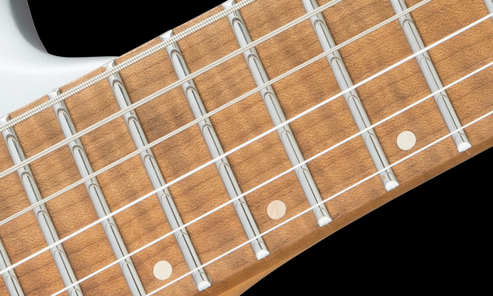 Caramelized Maple Neck with Caramelized Flame Maple Fingerboard