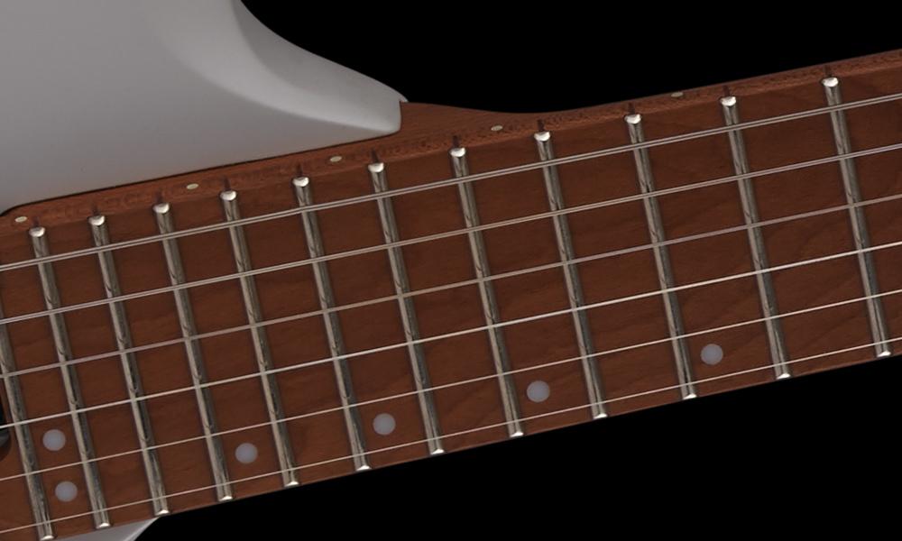 "20""-Radius Caramelized Maple Fingerboard"