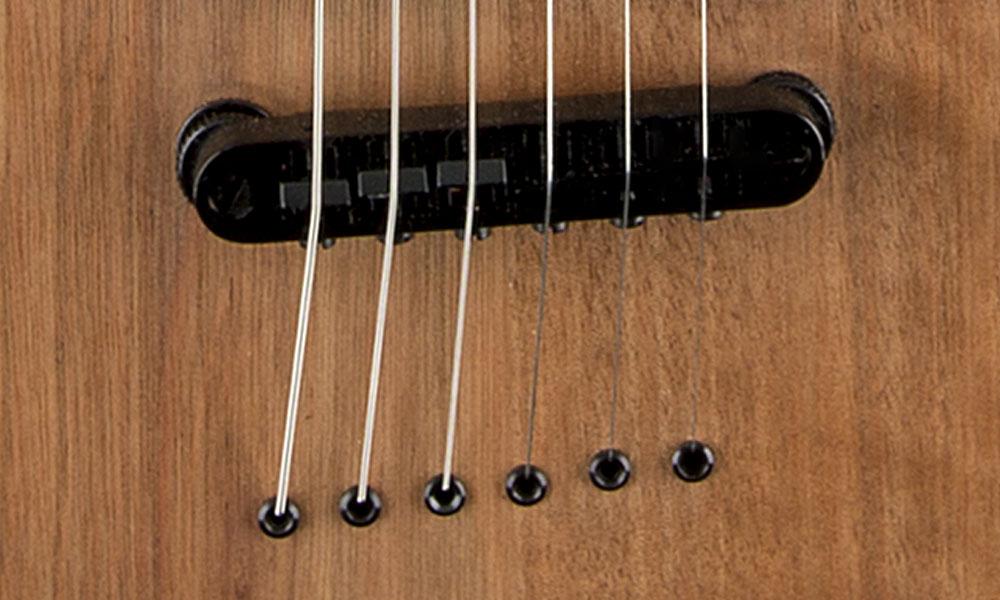 Jackson Compensated and Adjustable String-Through-Body Bridge
