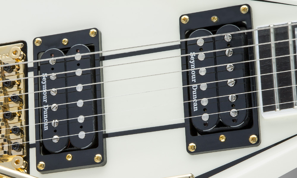 Rhoads :: Pro Series Rhoads RR3, Ebony Fingerboard, Ivory with Black ...