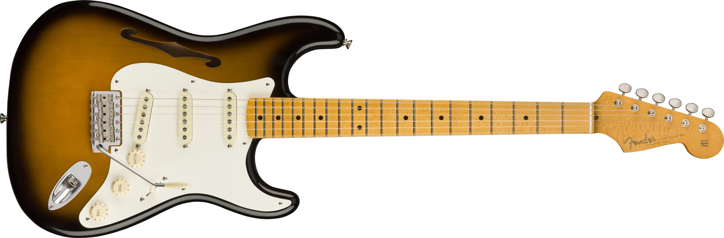 FENDER-Eric-Johnson-Thinline-Stratocaster-Maple-Fingerboard-2-Color-Sunburst-sku-550011851