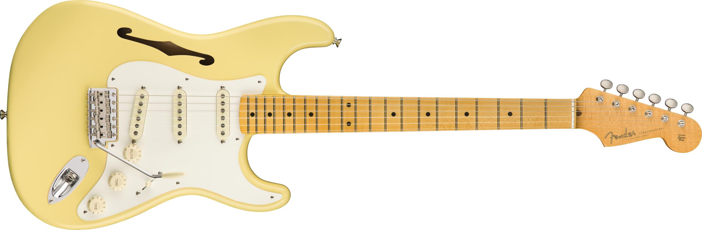 FENDER-Eric-Johnson-Thinline-Stratocaster-Maple-Fingerboard-Vintage-White-sku-571001019