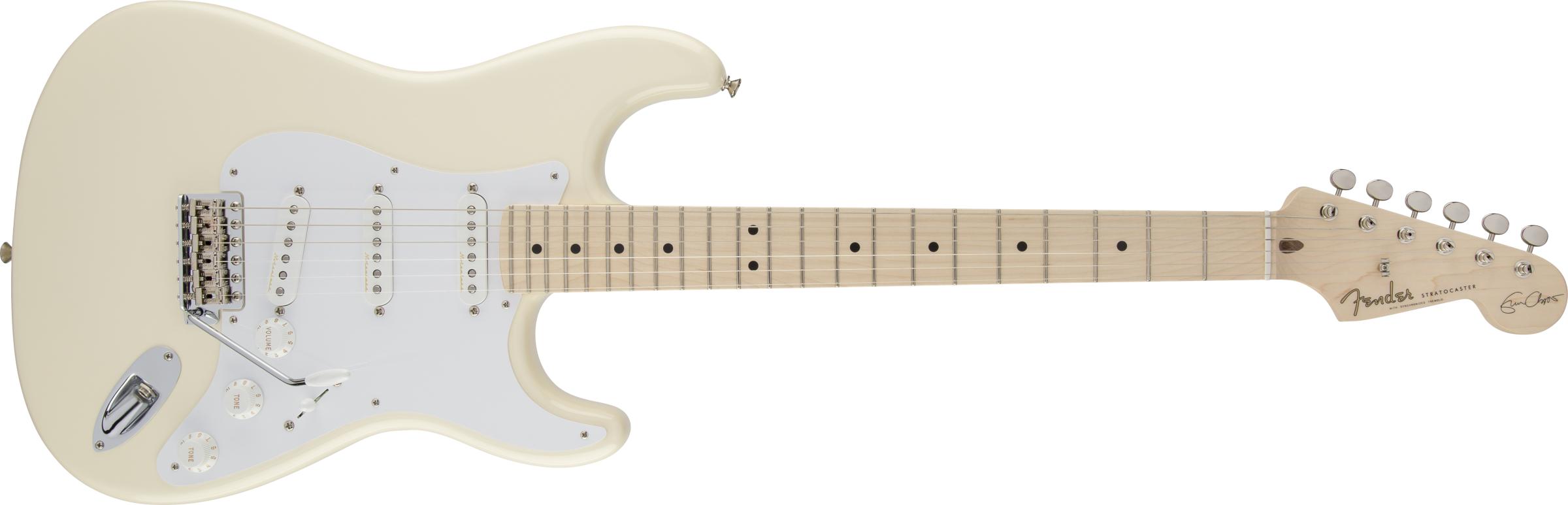 FENDER-Eric-Clapton-Stratocaster-Maple-Fingerboard-Olympic-White-sku-571000269