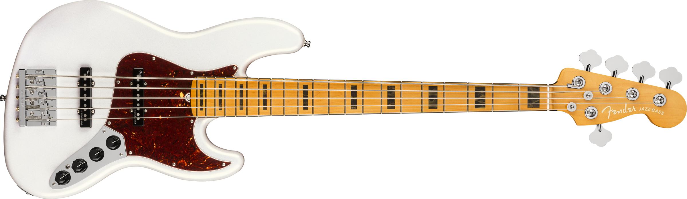 FENDER-American-Ultra-Jazz-Bass-V-Maple-Fingerboard-Arctic-Pearl-sku-571003989