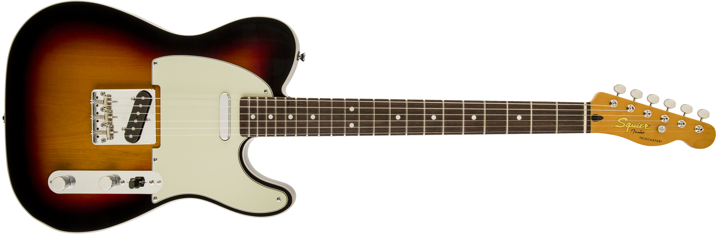 This is an image of the Squier Classic Vibe Custom Three Color Sunburst
