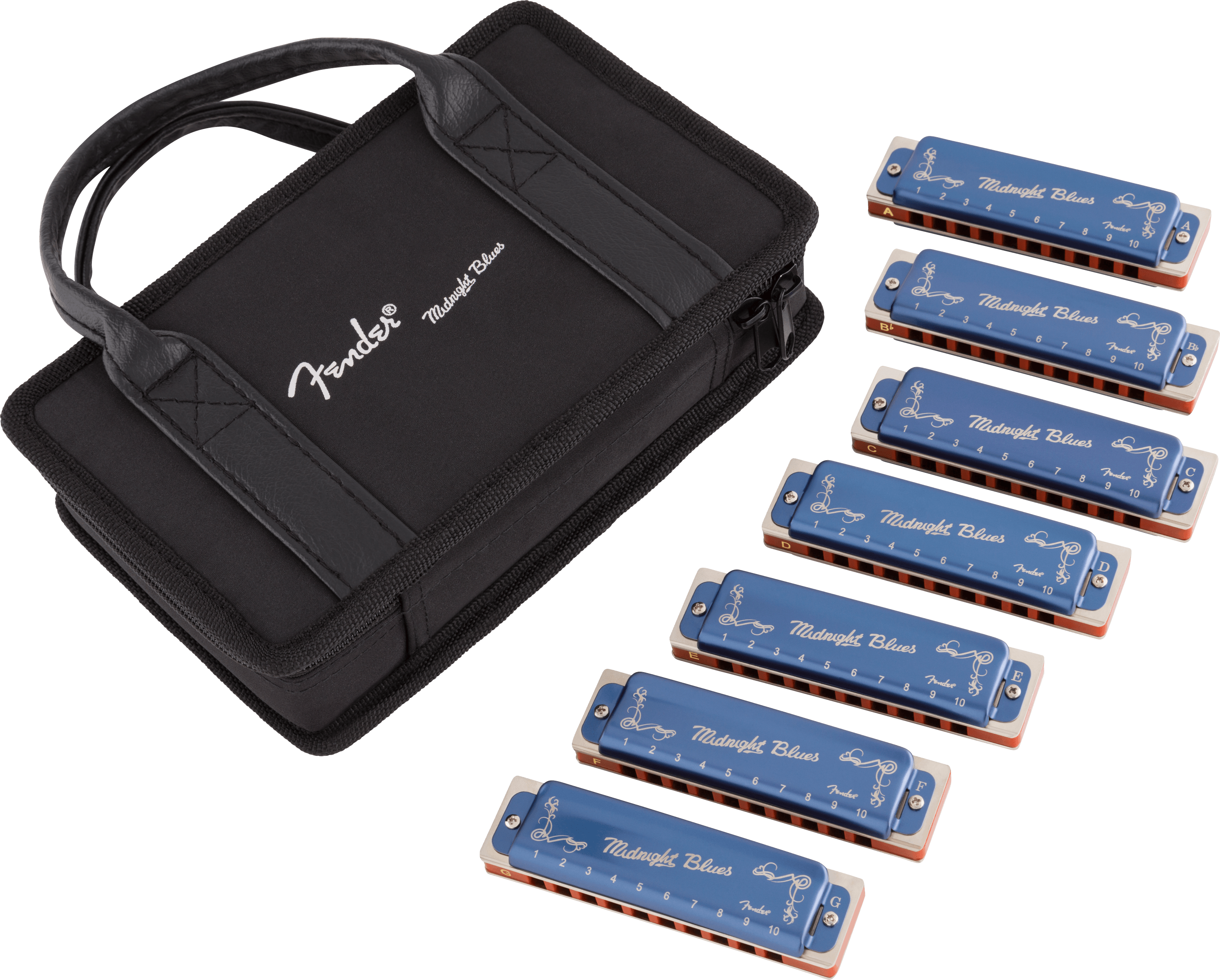 FENDER-Midnight-Blues-Harmonica-Pack-of-7-with-Case-0990702149-sku-550022824