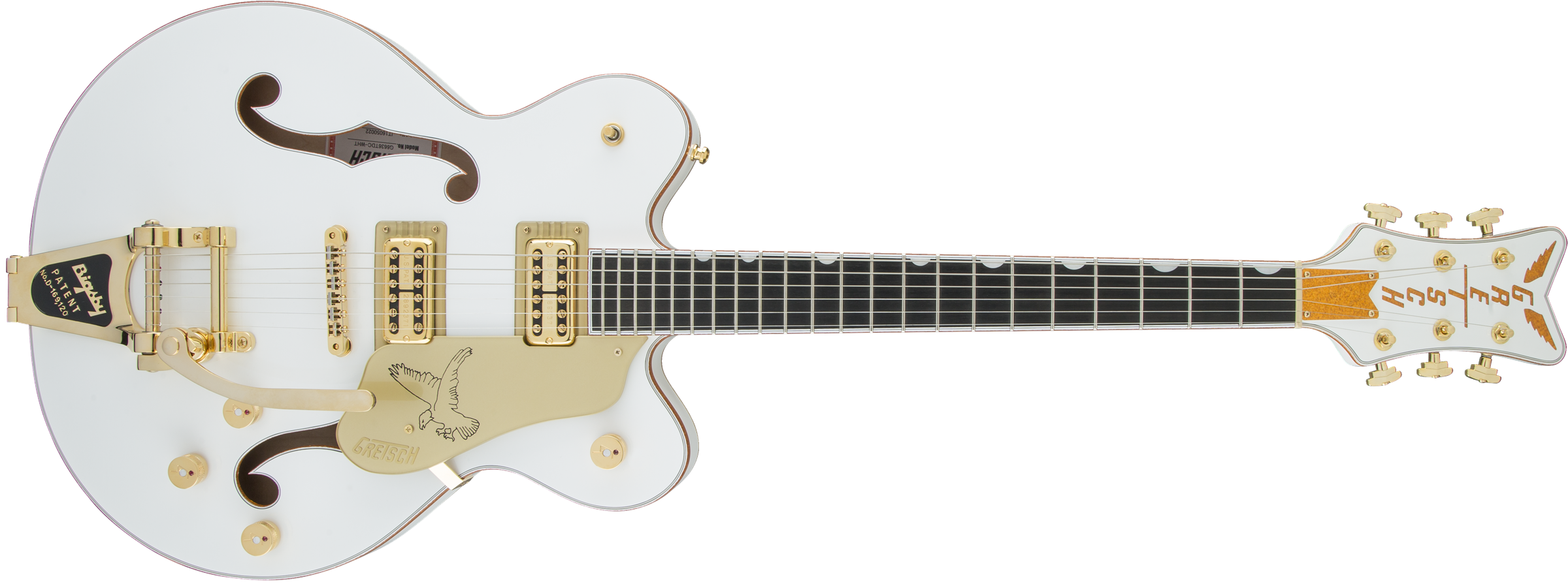 GRETSCH-G6636T-Players-Edition-Falcon-Center-Block-Double-Cut-with-String-Thru-Bigsby-FilterTron-Pickups-White-sku-571000156