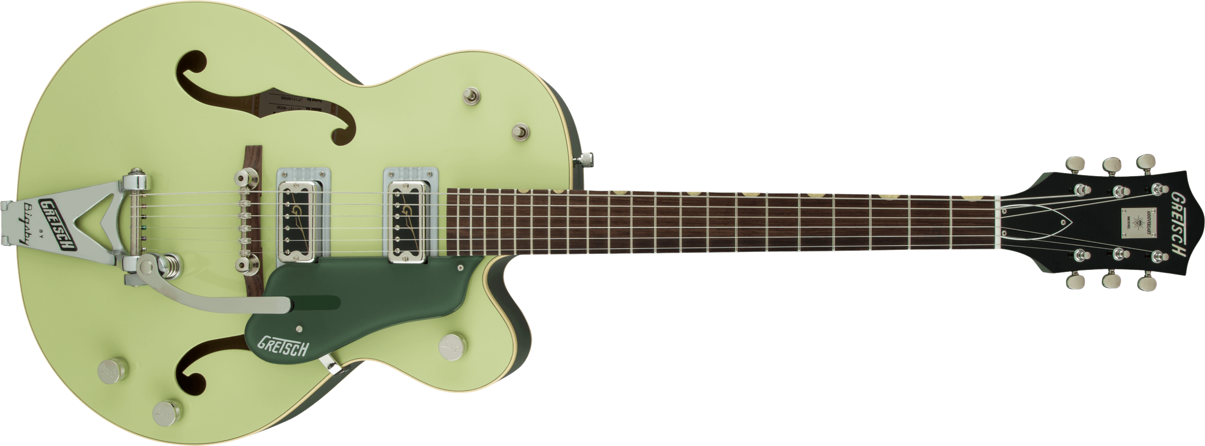 GRETSCH-G6118T-60-Vintage-Select-Edition-60-Anniversary-Hollow-Body-with-Bigsby-TV-Jones-2-Tone-Smoke-Green-sku-571000154