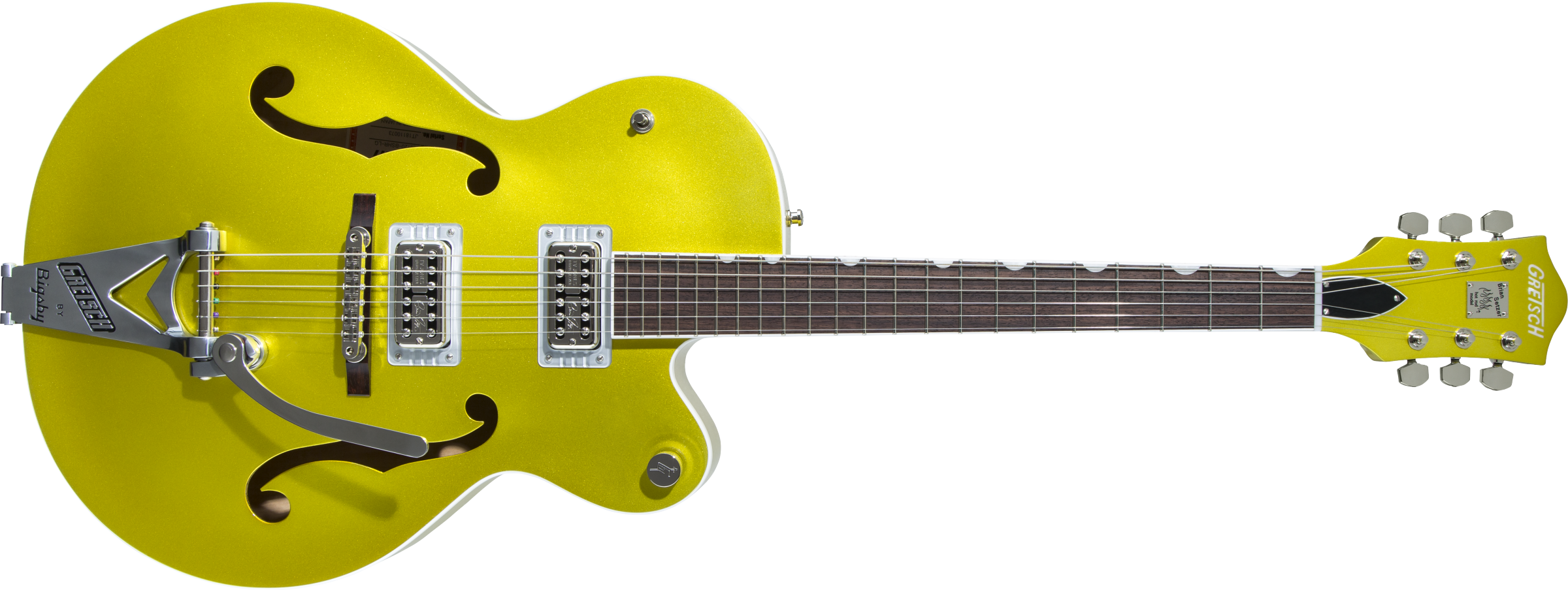 GRETSCH-G6120T-HR-Brian-Setzer-Signature-Hot-Rod-Hollow-Body-with-Bigsby-Rosewood-Fingerboard-Lime-Gold-sku-571004089