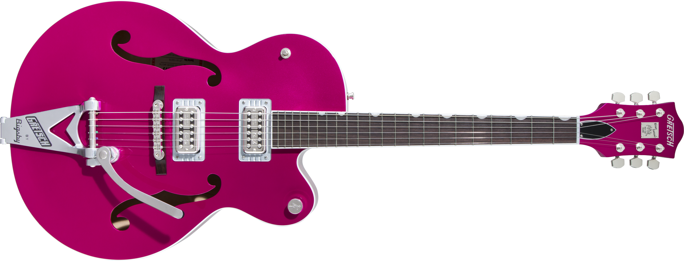 GRETSCH-G6120T-HR-Brian-Setzer-Signature-Hot-Rod-Hollow-Body-with-Bigsby-Rosewood-Fingerboard-Candy-Magenta-sku-571004090
