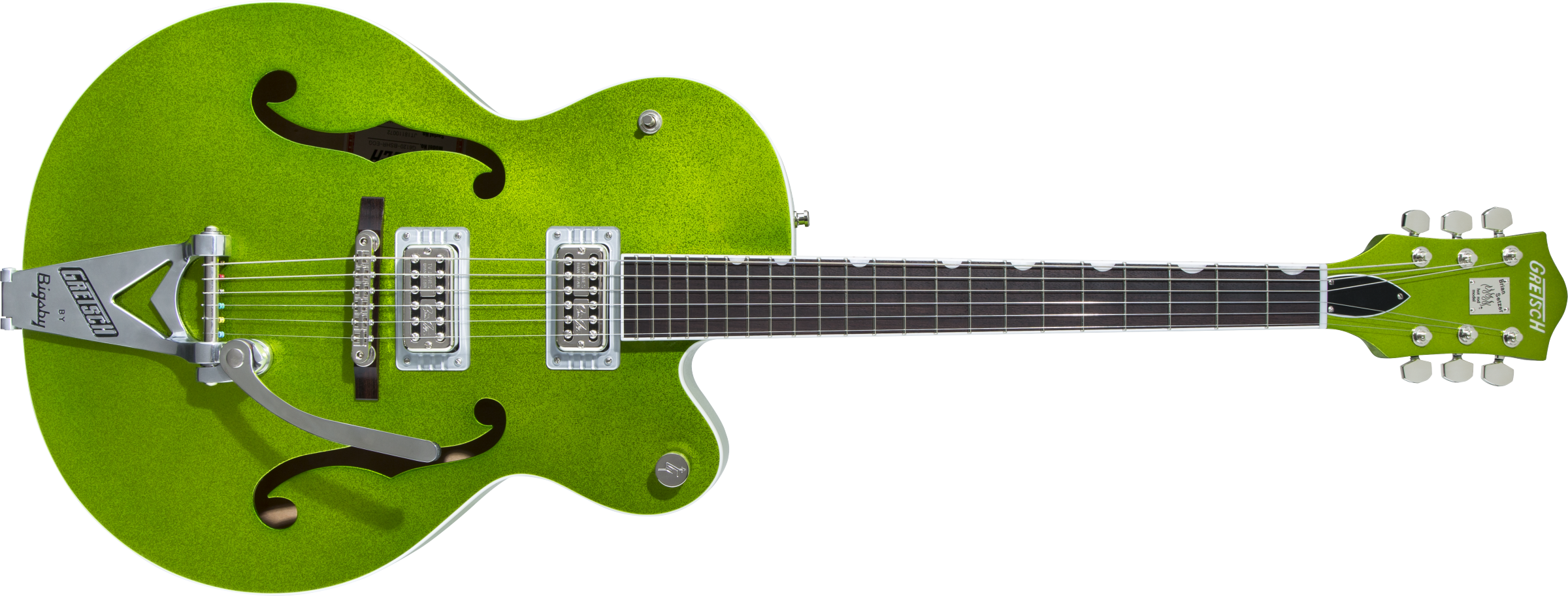 GRETSCH-G6120T-HR-Brian-Setzer-Signature-Hot-Rod-Hollow-Body-with-Bigsby-Rosewood-Fingerboard-Extreme-Coolant-Green-Sparkle-sku-571004087