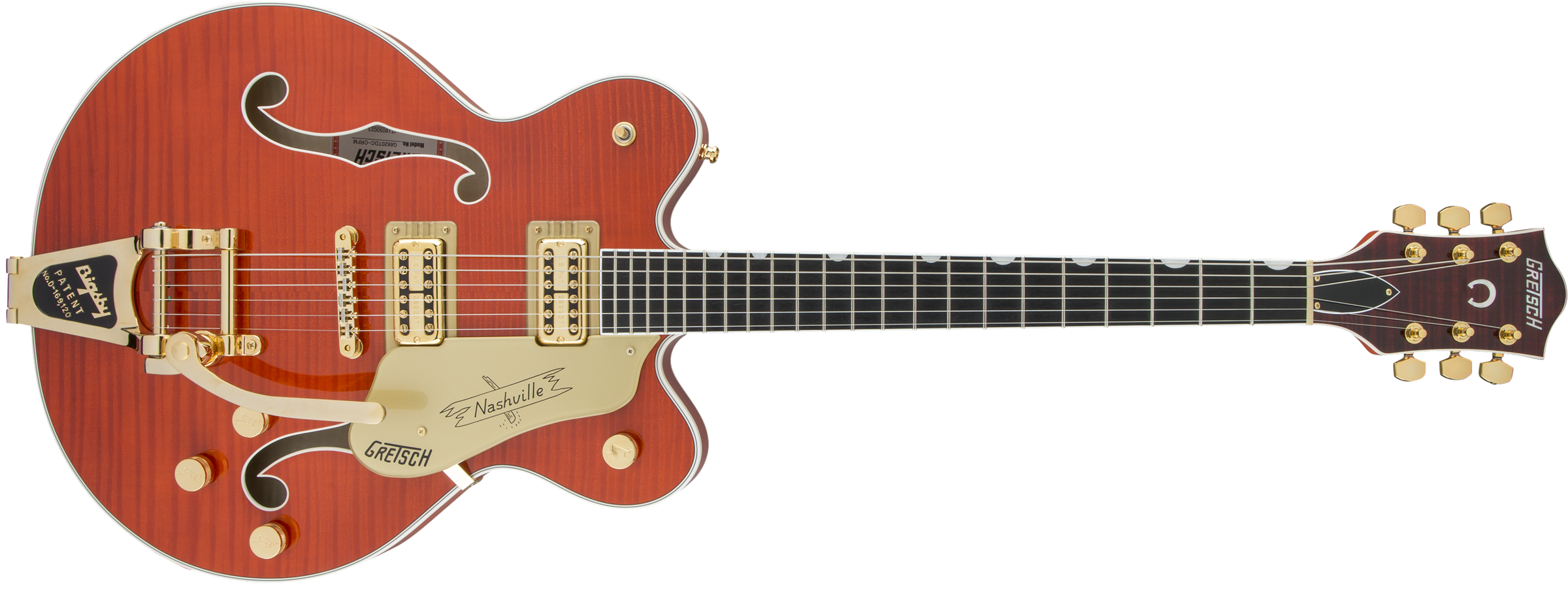 GRETSCH-G6620TFM-Players-Edition-Nashville-Center-Block-Double-Cut-with-String-Thru-Bigsby-and-Flame-Maple-FilterTron-Pickups-Orange-Stain-sku-571000148
