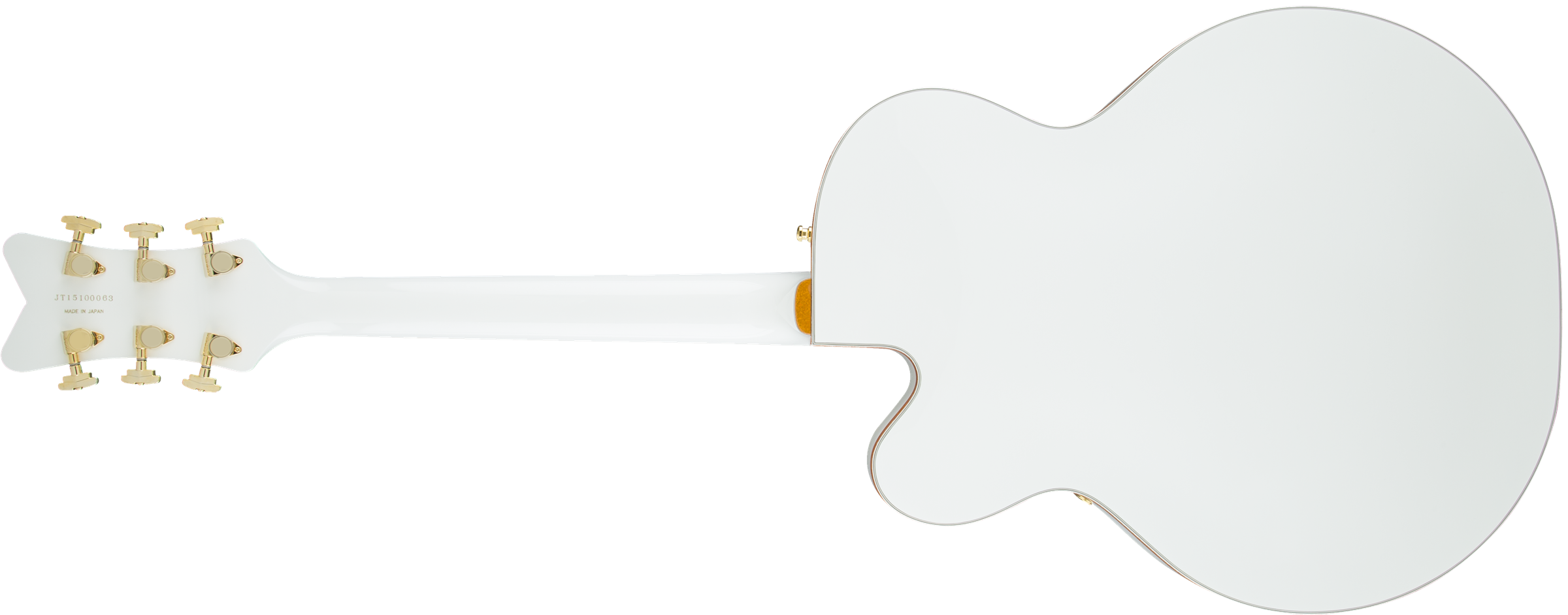Hollow Body G6136t Wht Players Edition Falcon With String Thru Wiring Diagram For Dean Ml 2 Tones 1 Volume Bigsby Filtertron Pickups White