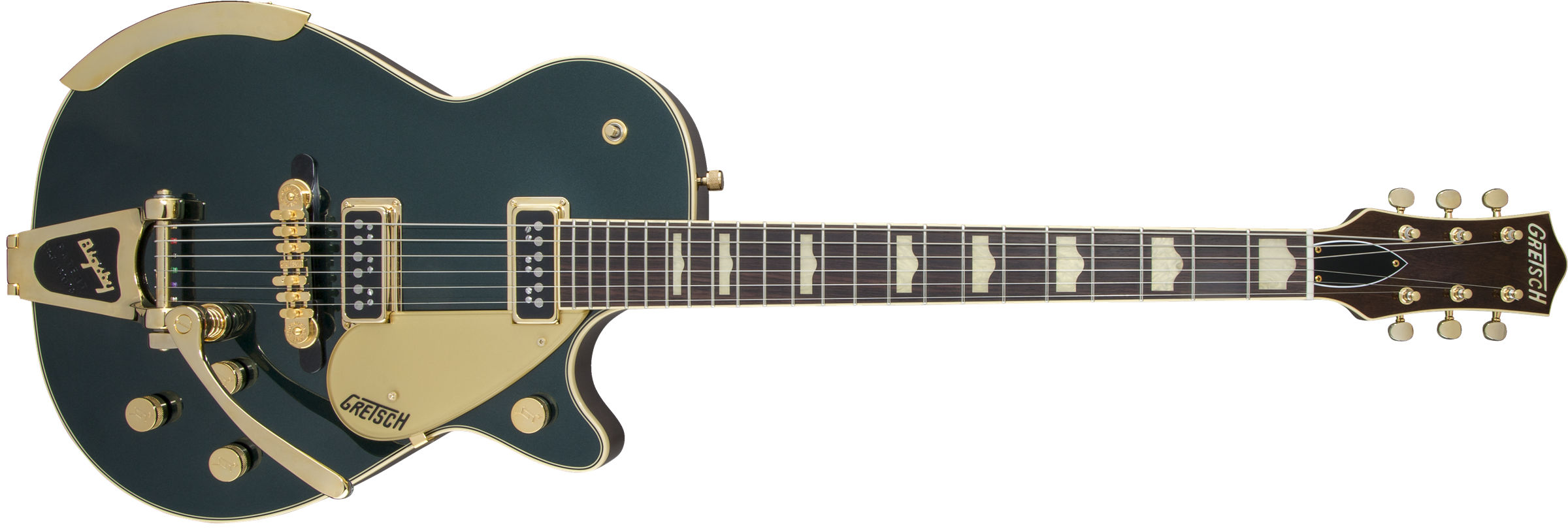 GRETSCH-G6128T-57-Vintage-Select-57-Duo-Jet-with-Bigsby-TV-Jones-Cadillac-Green-sku-571001246