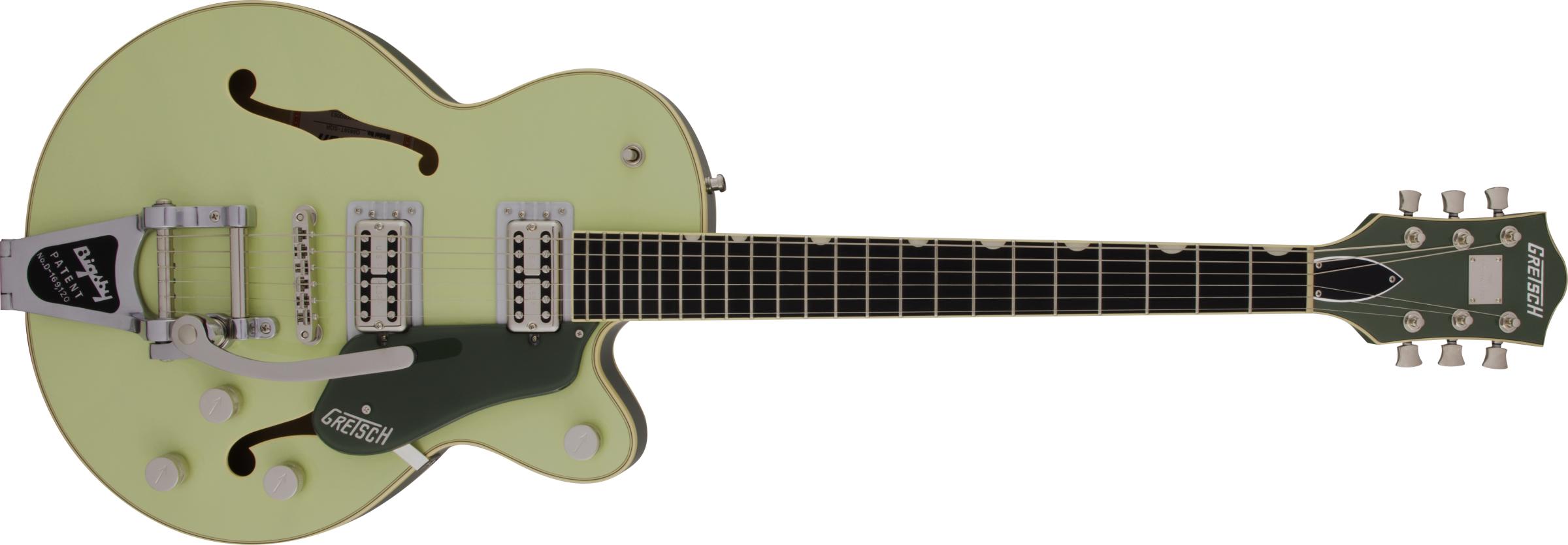 GRETSCH-G6659T-Players-Edition-Broadkaster-Jr-Center-Block-Single-Cut-with-String-Thru-Bigsby-USA-FullTron-Pickups-Ebony-Fingerboard-Two-Tone-Smoke-Green-sku-571004574