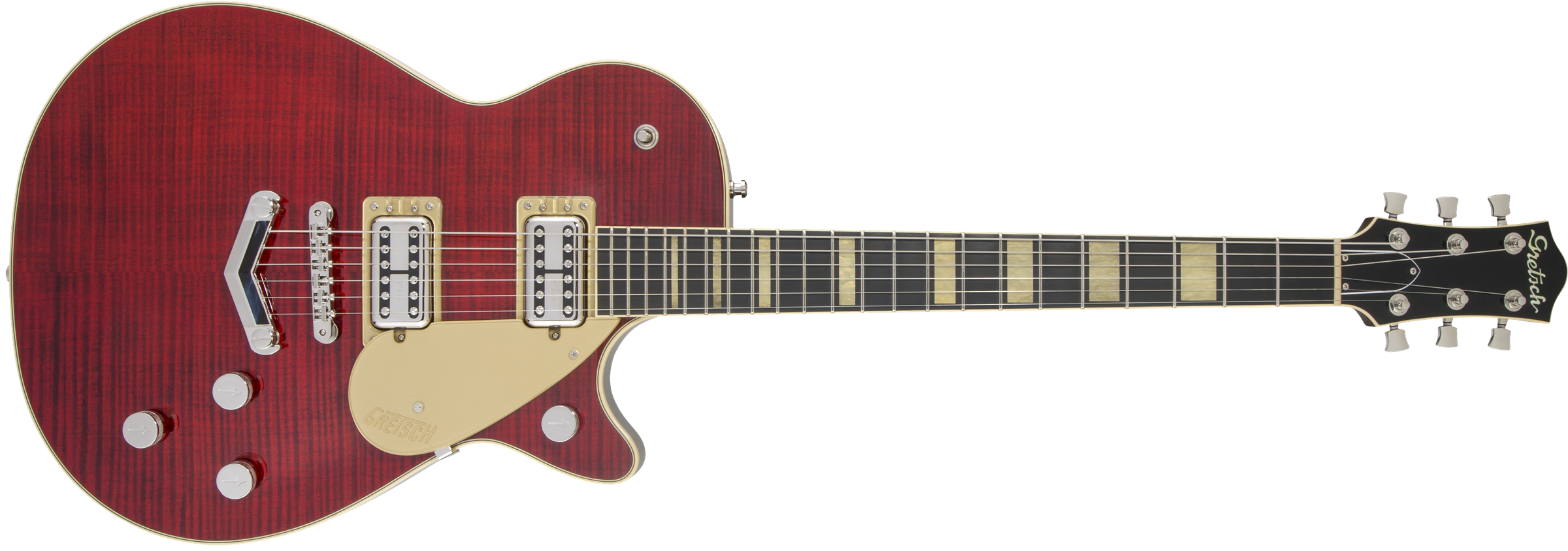 GRETSCH-G6228FM-Players-Edition-Jet-BT-with-V-Stoptail-Flame-Maple-Ebony-Fingerboard-Crimson-Stain-sku-571002851
