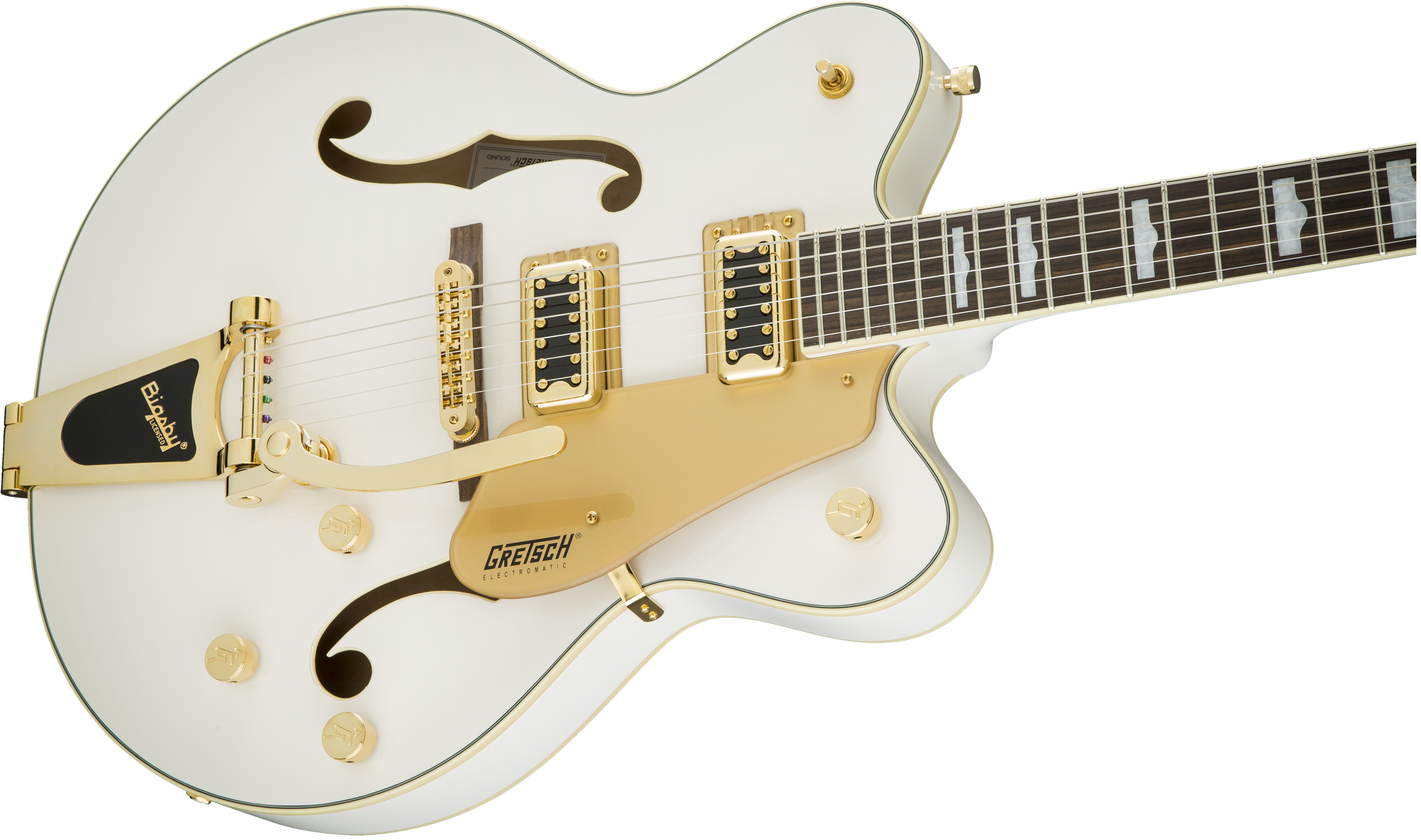 Hollow Body :: G5422TG Electromatic® Hollow Body Double-Cut with Bigsby®  and Gold Hardware, Snowcrest White