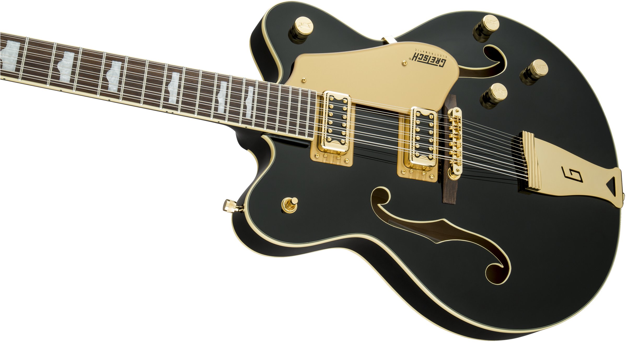 hollow body g5422g 12 electromatic hollow body double cut 12 string with gold hardware black. Black Bedroom Furniture Sets. Home Design Ideas