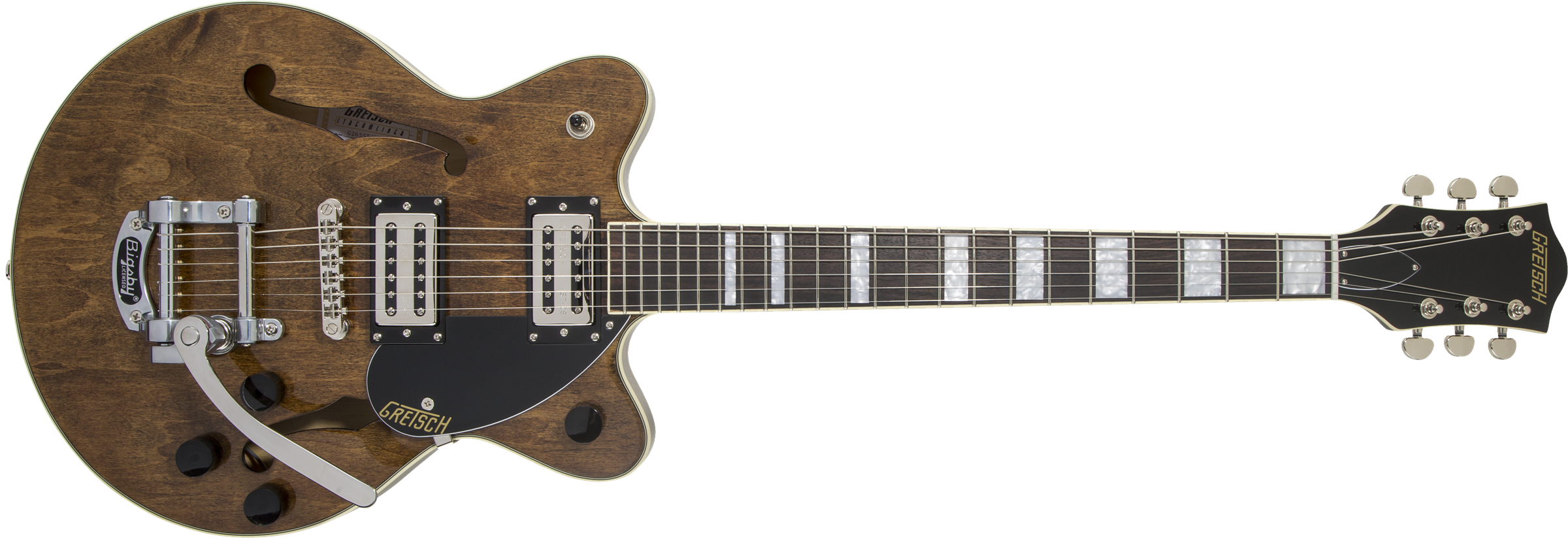 GRETSCH G2655T Streamliner Center Block Jr. with Bigsby, Laurel Fingerboard, BroadTron BT-2S Pickups, Imperial Stain