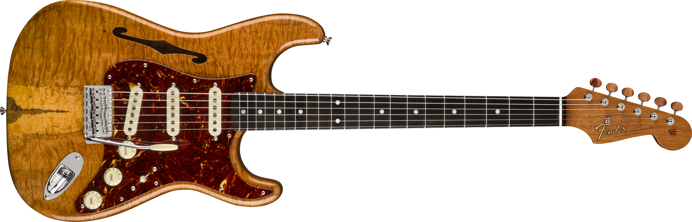 FENDER-Artisan-Spalted-Maple-Stratocaster-Thinline-Roasted-Ash-Body-with-Spalted-Maple-Top-Ebony-Fingerboard-Aged-Natural-sku-571005170
