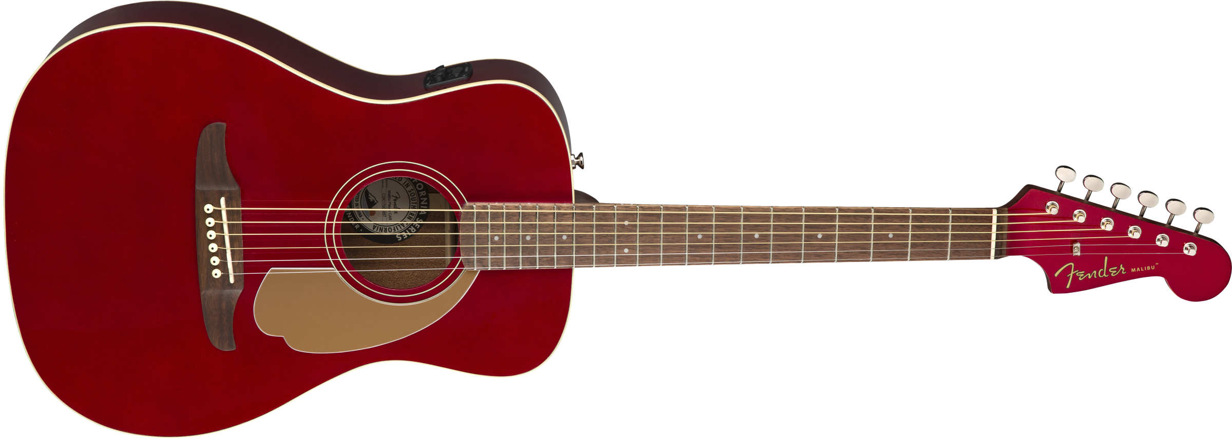 Image of the Fender Malibu Player, Walnut Fingerboard, Candy Apple Red