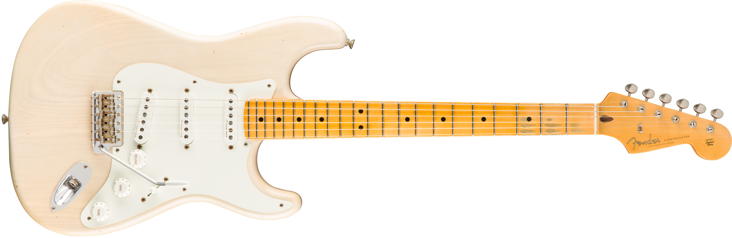 FENDER-Eric-Clapton-Signature-Stratocaster-Journeyman-Relic-Maple-Fingerboard-Aged-White-Blonde-sku-571000983