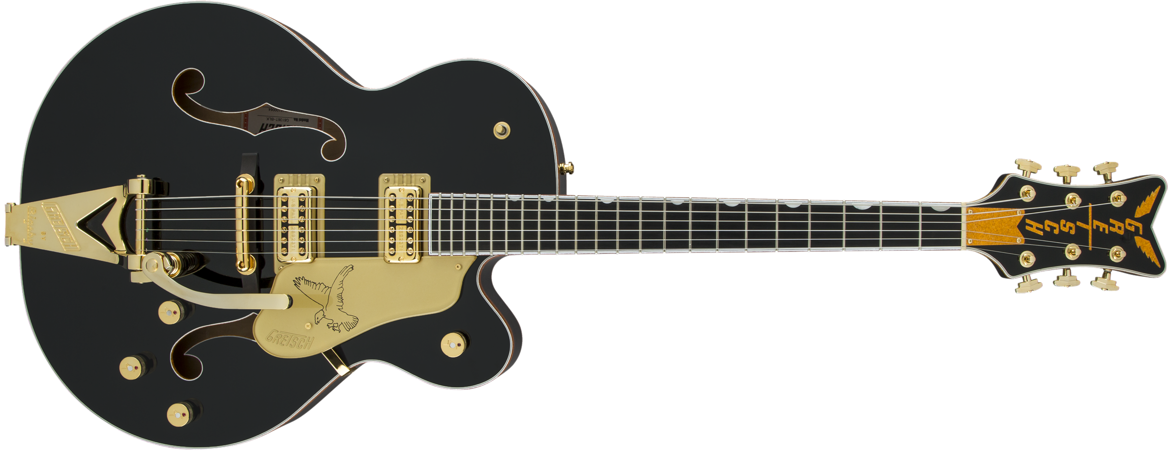 GRETSCH-G6136T-BLK-Players-Edition-Falcon-with-String-Thru-Bigsby-FilterTron-Pickups-Black-sku-571000145