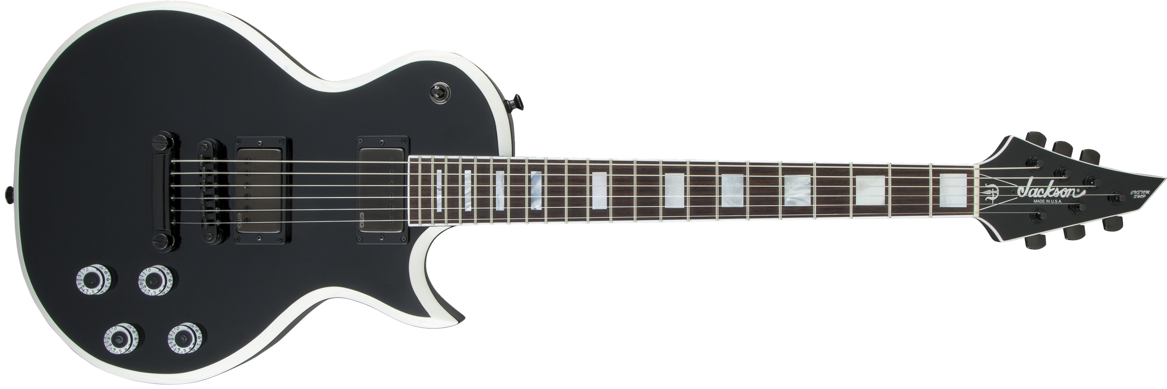 JACKSON USA Signature Marty Friedman MF-1, Rosewood Fingerboard, Gloss Black with White Bevels