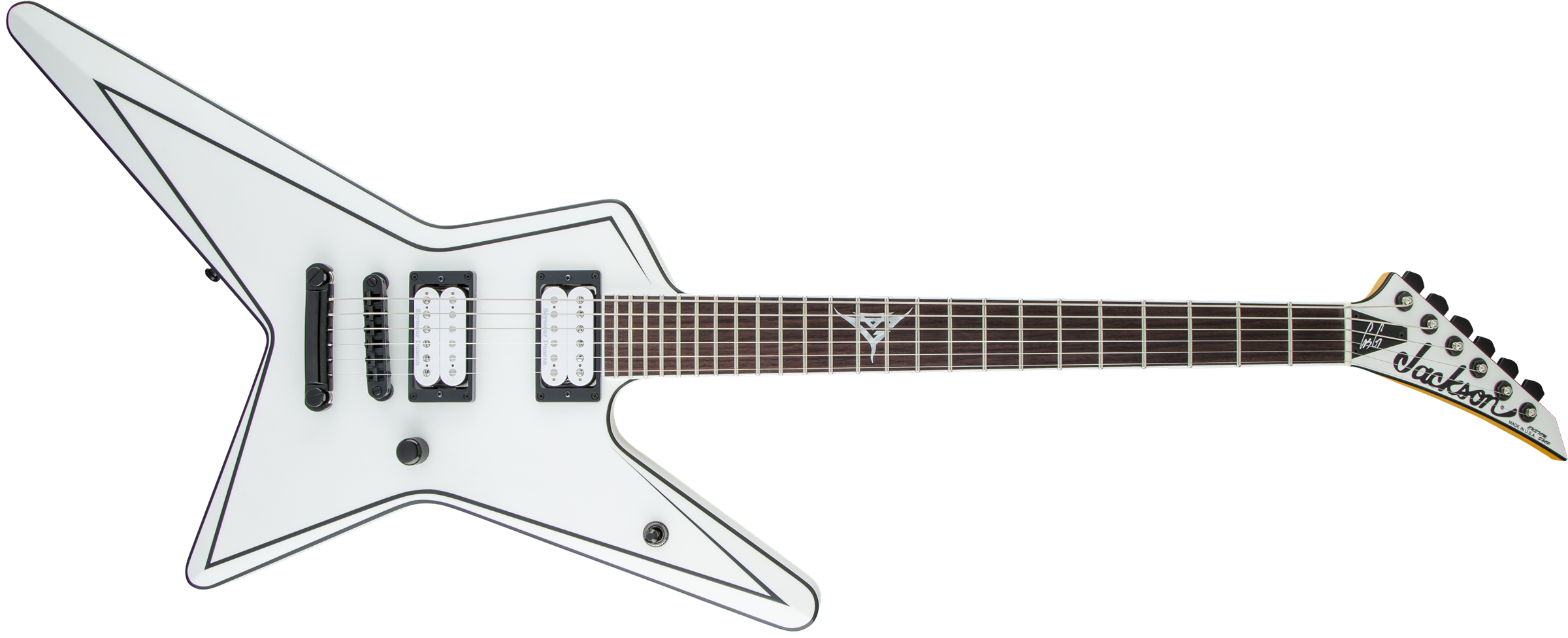 Star Usa Signature Gus G Star Rosewood Fingerboard Satin White
