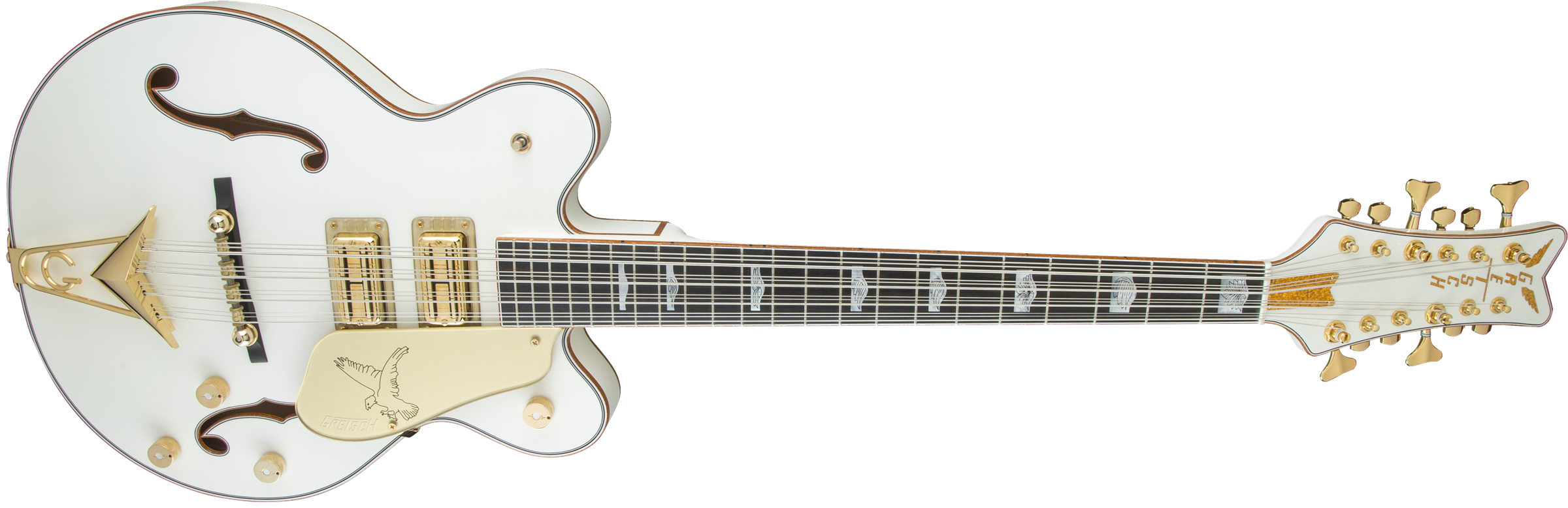 bass g6136b tp12 custom shop tom petersson signature white falcon Used 12 String Bass local dealers online dealers