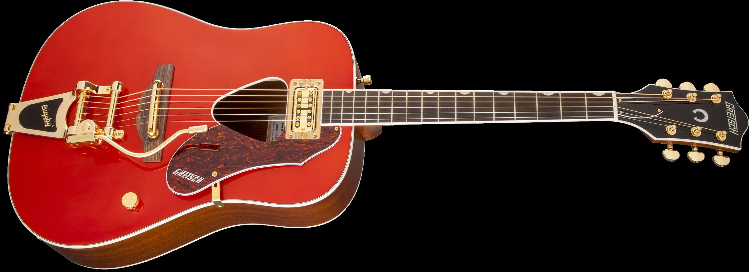 Gretsch Acoustic Guitars >> Acoustic Guitar G5034tft Rancher Fideli Tron Pickup Bigsby