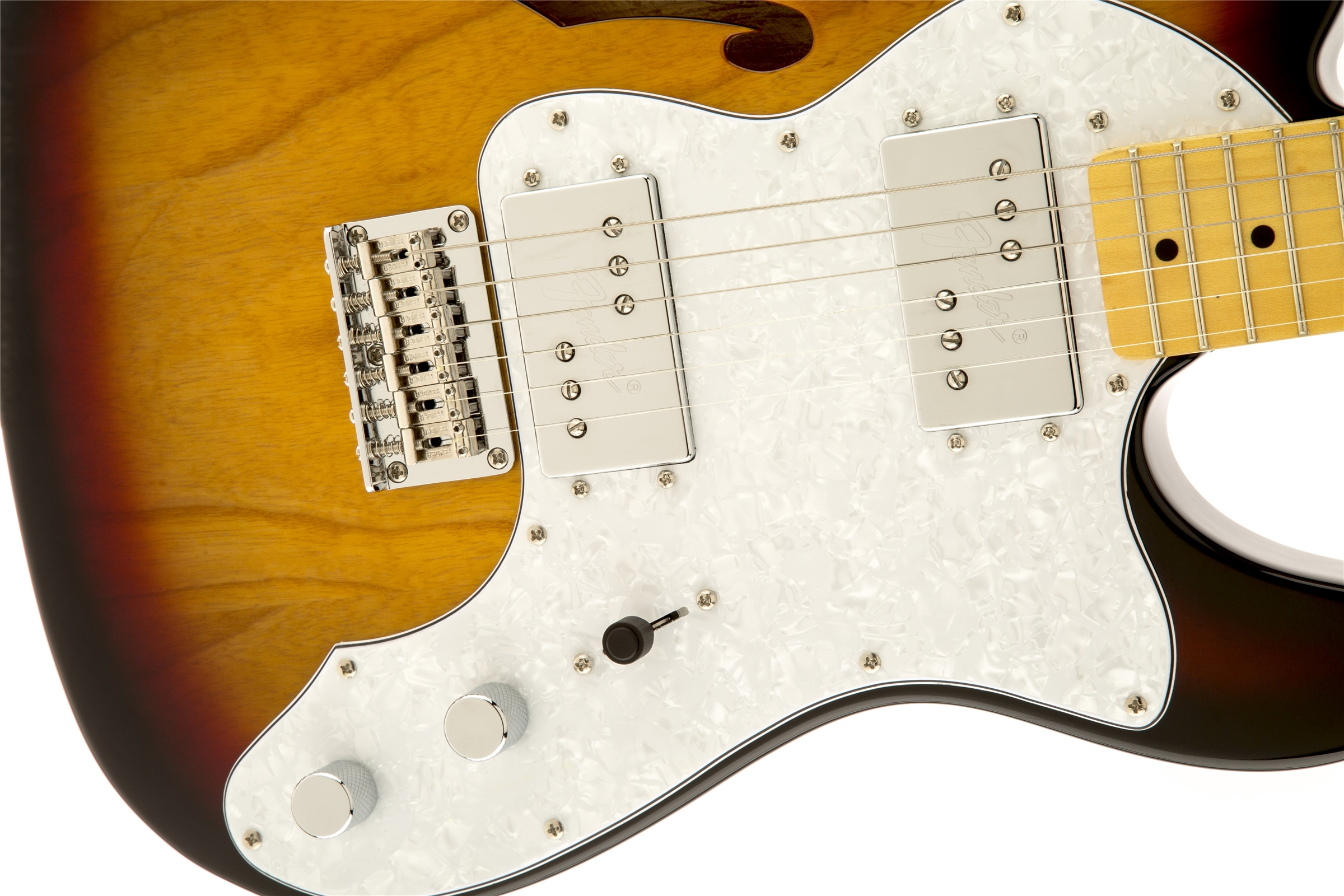 0301280500_gtr_frtbdydtl_001_nr squier� vintage modified '72 tele thinline, maple fingerboard, 3 Thinline Tele Body at crackthecode.co